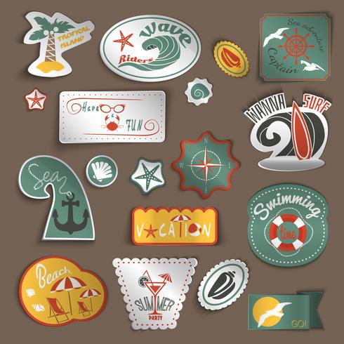 Travel stickers set vector