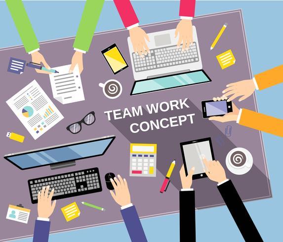 Concetto di lavoro di squadra affari