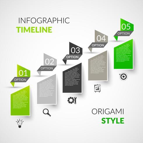 Infografica timeline di carta