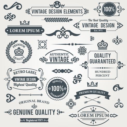 Elementos de design vintage vetor