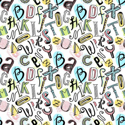 Seamless alphabet color