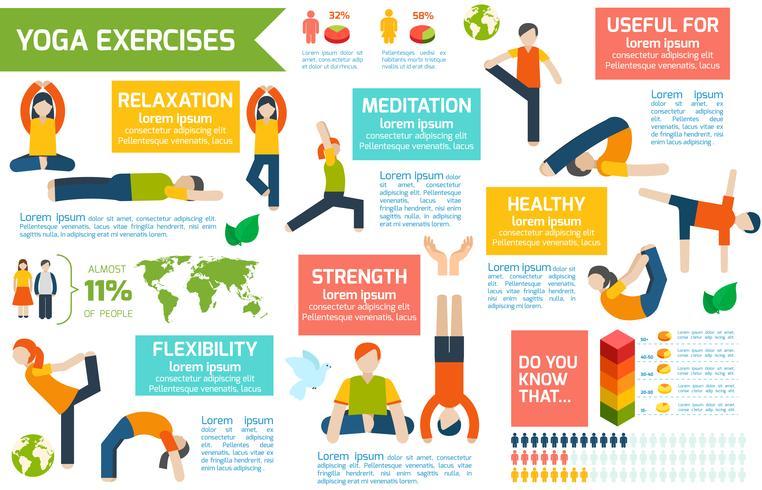 yoga infographics set vektor