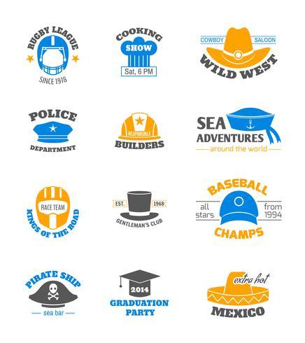 Conjunto de carimbos de chapéu