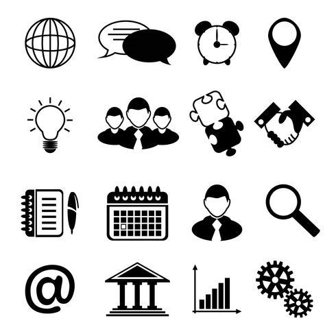 Business Icons schwarz