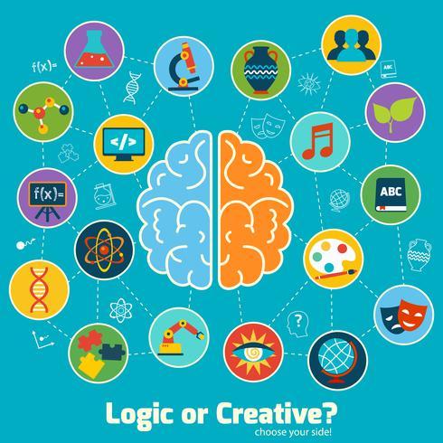 Hersenen wetenschap concept