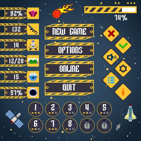 Space game-interface vector