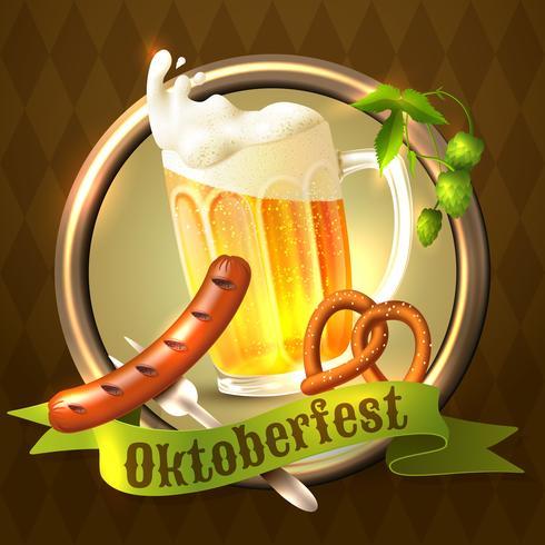 Fundo do festival Oktoberfest vetor