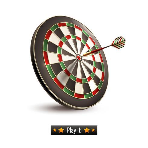 Darts board isolated vector