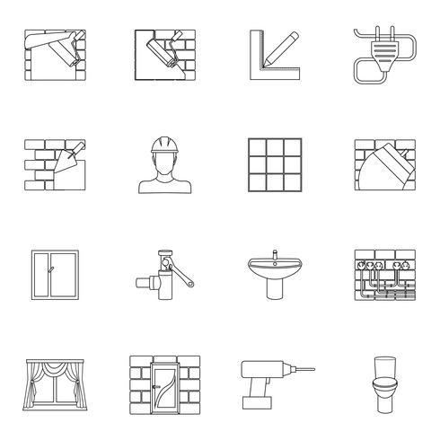 Profilo di icone di riparazione a casa