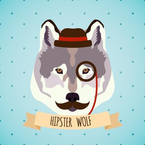 Animal hipster portrait