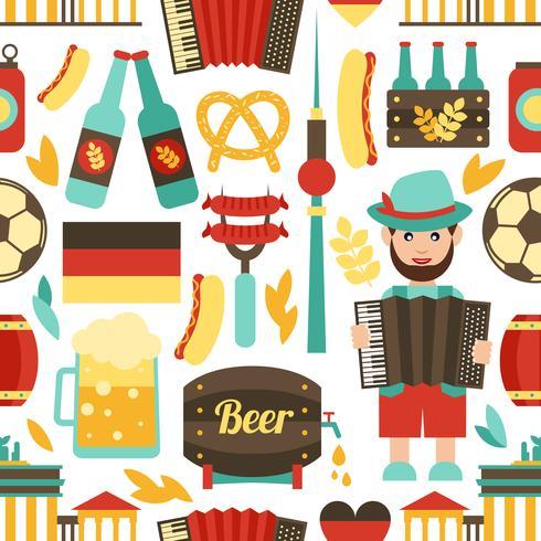 Deutschland reisen nahtlose Muster vektor
