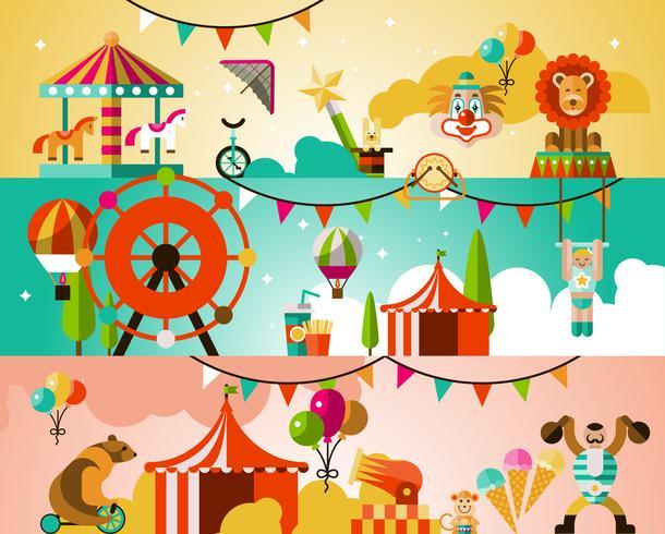 Sfondo prestazioni del circo vettore