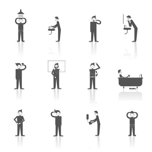 Conjunto de iconos de higiene vector