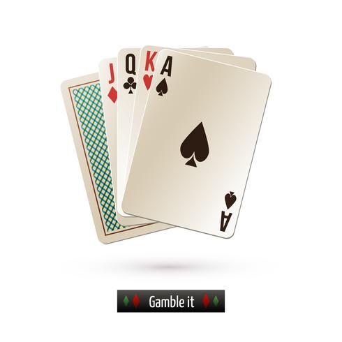 Cartão de jogo isolado