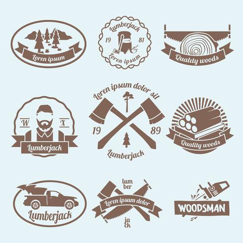 Rótulo de lenhador de lenhador vetor