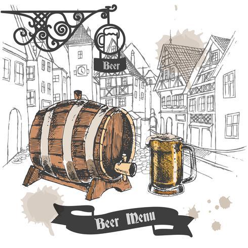 Affiche du menu du bar à bière