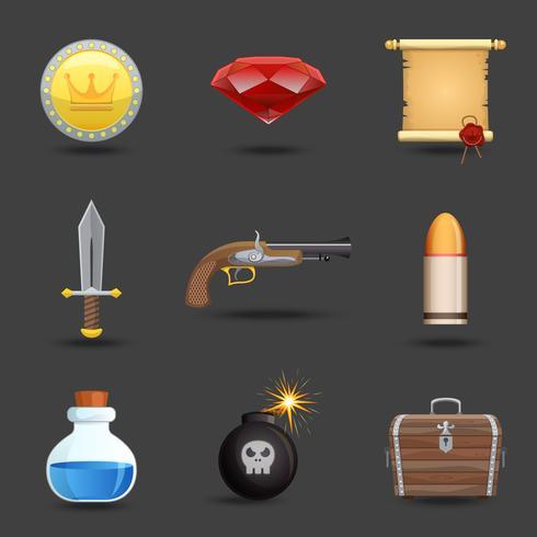 Icônes de ressources de jeu