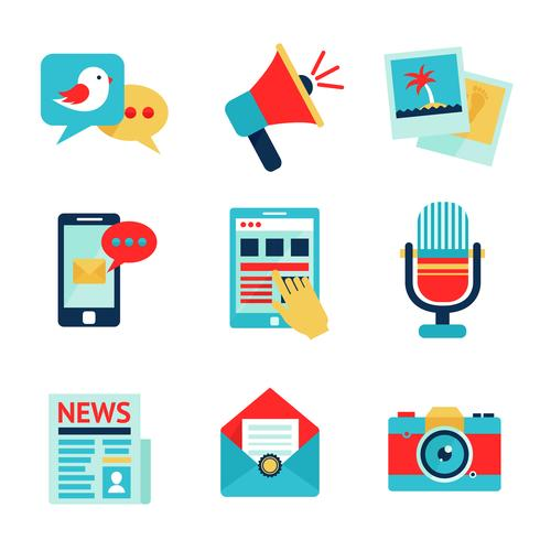Media pictogramserie vector