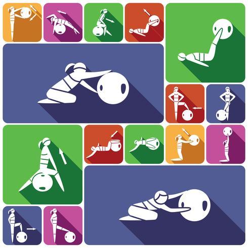 Icone della sfera di forma fisica messe piane