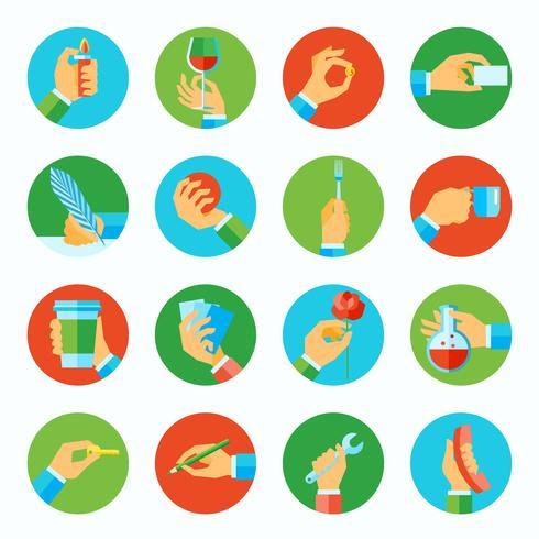 Mão, segurando, objetos, apartamento, jogo