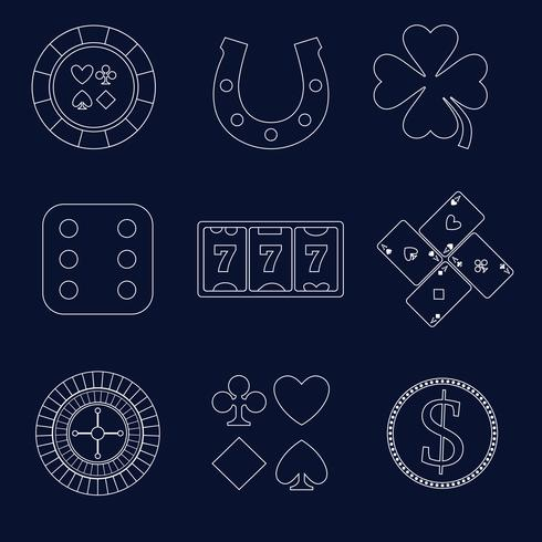Casino schets ontwerpelementen