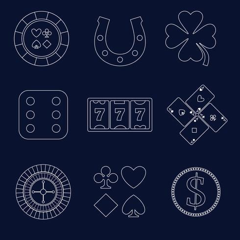 Elementos de diseño de esquema de casino