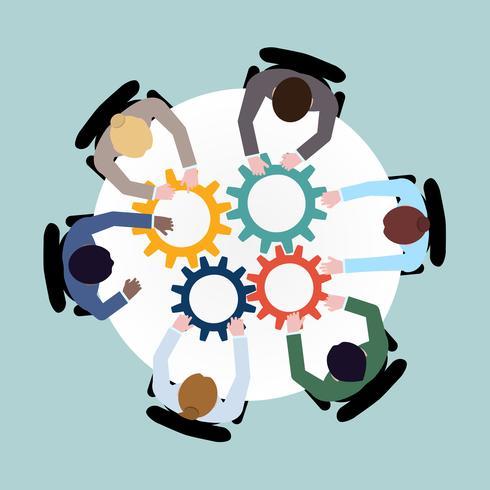 Concepto de cooperación empresarial