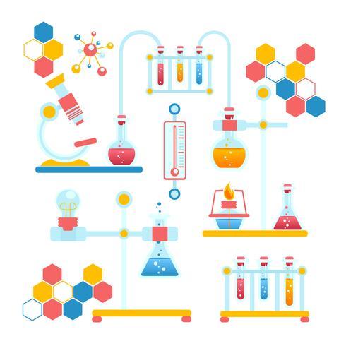 Composición infografía química vector