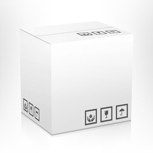 Caja de cartón aislada vector