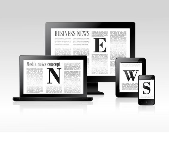 Concetto di notizie di media