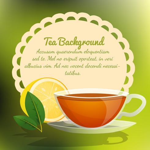 Fond de tasse de thé vecteur