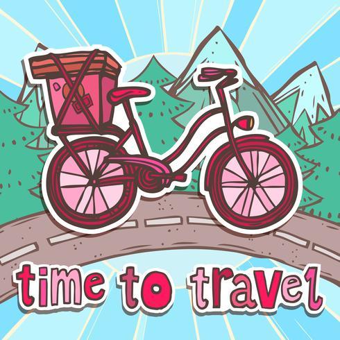 Reiseplakat mit Fahrrad