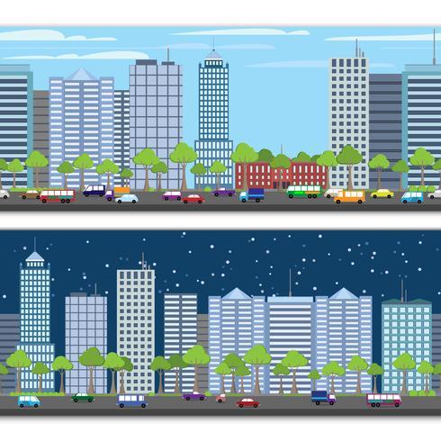 Confine piastrellabile del paesaggio urbano vettore