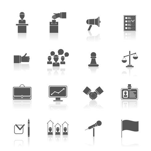 Val ikoner sätta svart