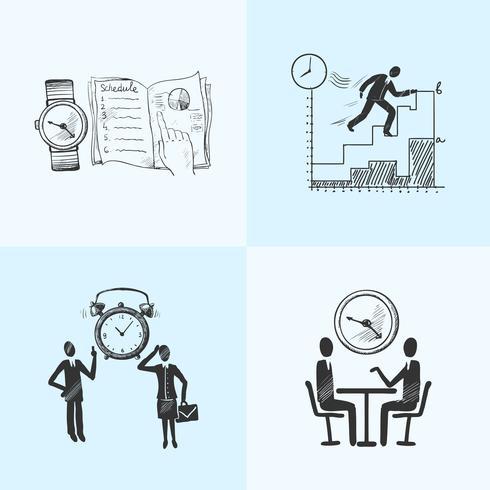 Time management composition sketch