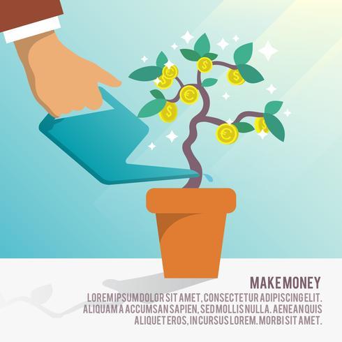 Geld Baum Wasser