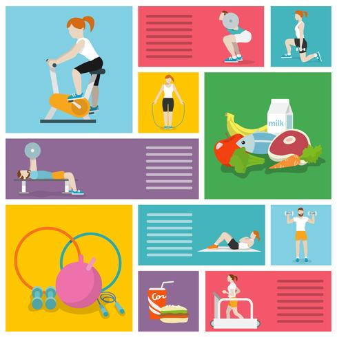 Gym exercises people vector