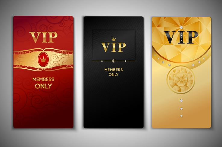 VIP-Karten eingestellt vektor