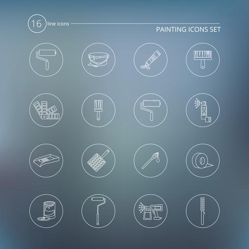 Esquema de los iconos de pintura