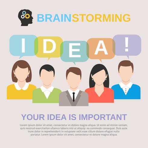 Idée concept de brainstorming