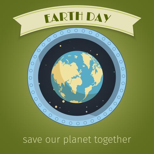 Cartel del día de la tierra vector