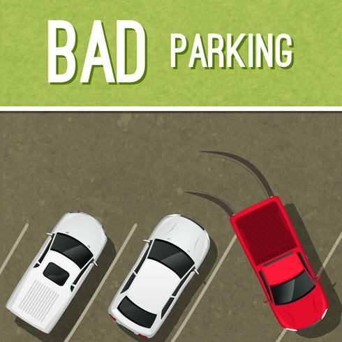 Parking scène poster vector