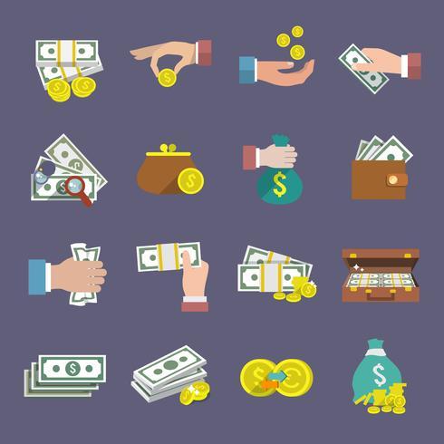 Dinheiro, ícone, apartamento