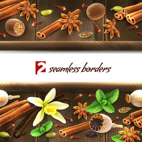 Fronteiras sem costura de especiarias