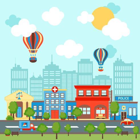 City scape bakgrund