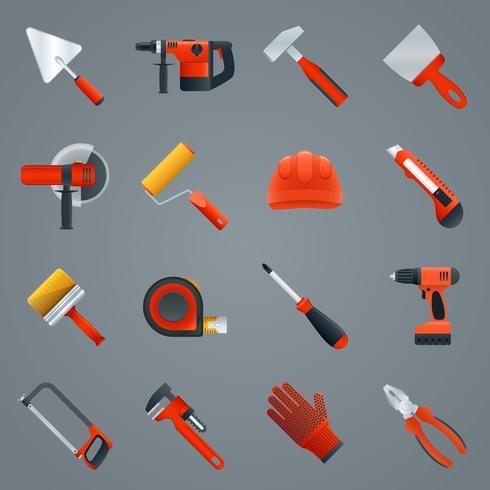 Reparar herramientas de construcción vector