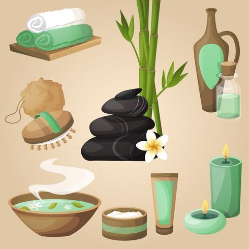 Concepto de iconos de spa vector