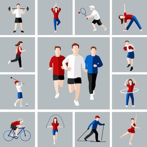 Conjunto de iconos de deporte vector