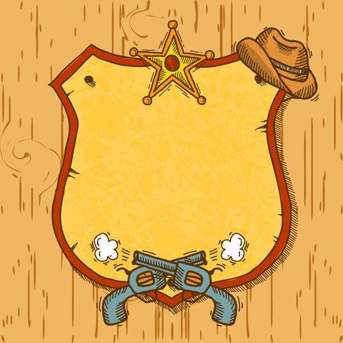 Cowboy sketch background