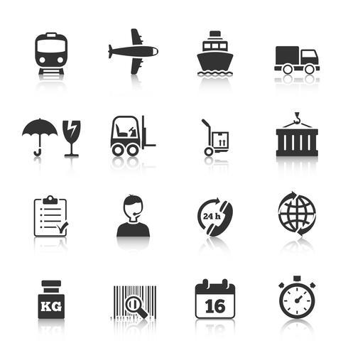 Conjunto de iconos de logística vector